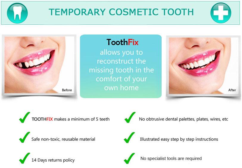 tooth repair material missing tooth replace temporary false teeth cosmetic diy ebay. Black Bedroom Furniture Sets. Home Design Ideas